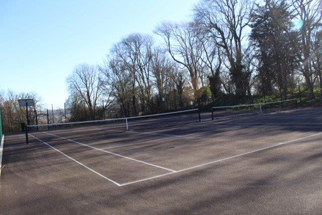 A view of Ashcombe Park tennis courts