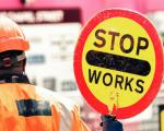 roadworks stop sign