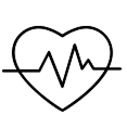 heart with a beat logo