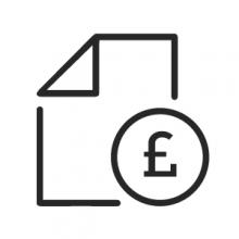 document with pound sign logo